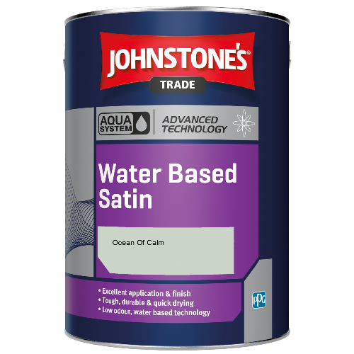 Johnstone's Aqua Water Based Satin - Ocean Of Calm - 2.5ltr