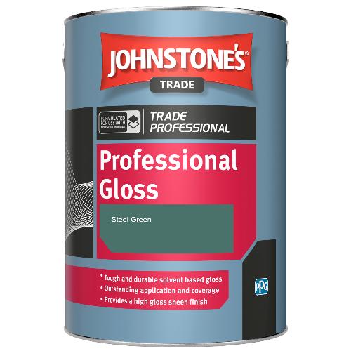 Johnstone's Professional Gloss - Steel Green - 1ltr