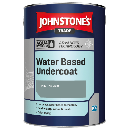 Johnstone's Aqua Water Based Undercoat - Play The Blues - 5ltr