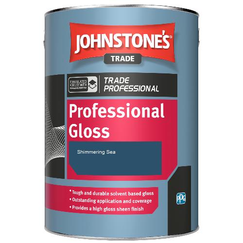 Johnstone's Professional Gloss - Shimmering Sea - 1ltr