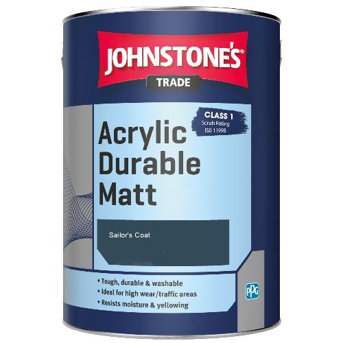 Johnstone's Trade Acrylic Durable Matt - Sailor's Coat - 5ltr