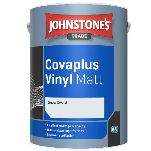 Johnstone's Trade Covaplus Vinyl Matt - Snow Crystal - 1ltr