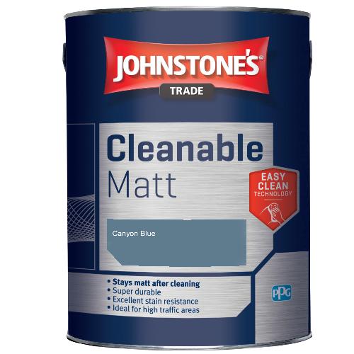 Johnstone's Trade Cleanable Matt - Canyon Blue - 5ltr