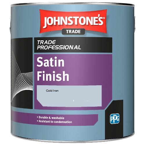 Johnstone's Satin Finish - Cold Iron - 2.5ltr