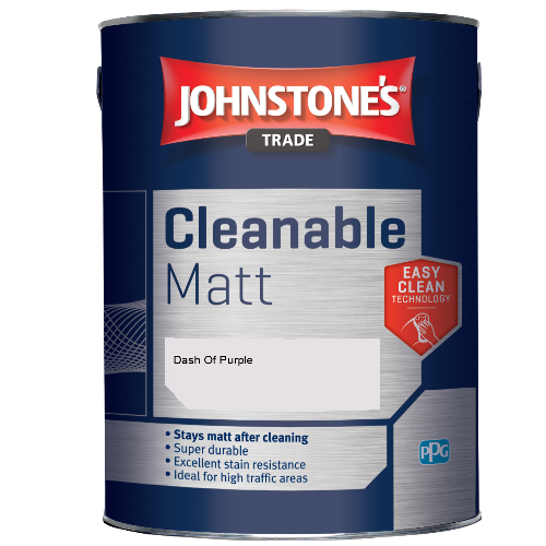 Johnstone's Trade Cleanable Matt - Dash Of Purple - 5ltr