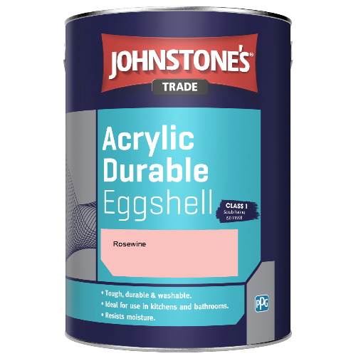 Johnstone's Trade Acrylic Durable Eggshell - Rosewine - 2.5ltr