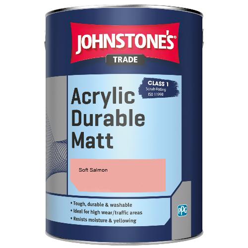 Johnstone's Trade Acrylic Durable Matt - Soft Salmon - 5ltr