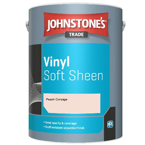 Johnstone's Trade Vinyl Soft Sheen - Peach Corsage - 2.5ltr