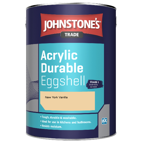 Johnstone's Trade Acrylic Durable Eggshell - New York Vanilla  - 2.5ltr