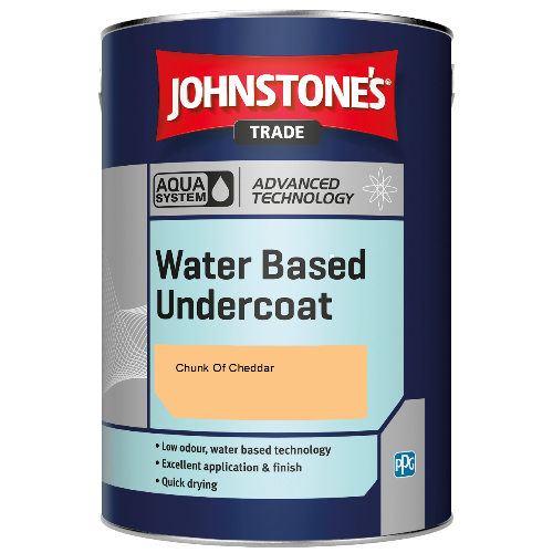 Johnstone's Aqua Water Based Undercoat - Chunk Of Cheddar - 5ltr