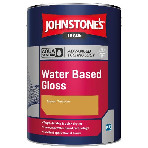 Johnstone's Aqua Water Based Gloss - Mayan Treasure - 1ltr