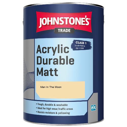 Johnstone's Trade Acrylic Durable Matt - Man In The Moon - 5ltr