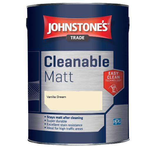 Johnstone's Trade Cleanable Matt - Vanilla Dream - 5ltr