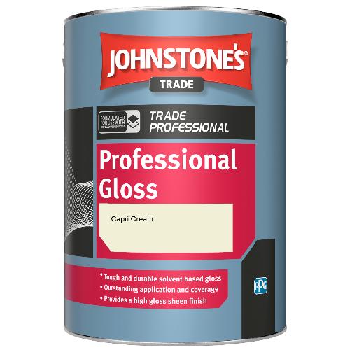 Johnstone's Professional Gloss - Capri Cream - 2.5ltr