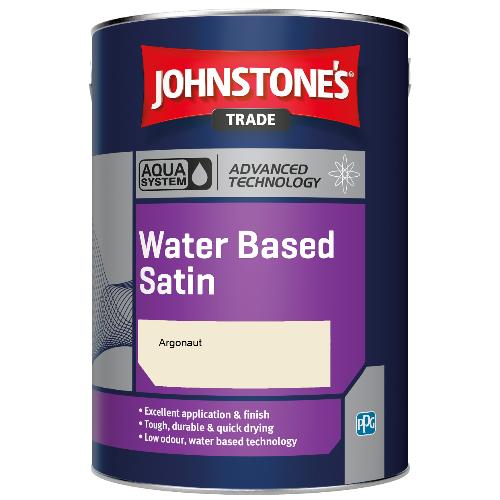 Johnstone's Aqua Water Based Satin - Argonaut - 5ltr