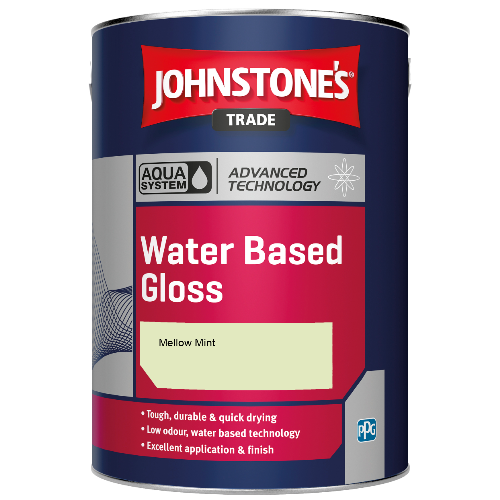 Johnstone's Aqua Water Based Gloss - Mellow Mint - 2.5ltr
