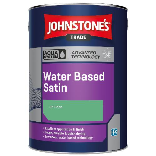 Johnstone's Aqua Water Based Satin - Elf Shoe - 1ltr