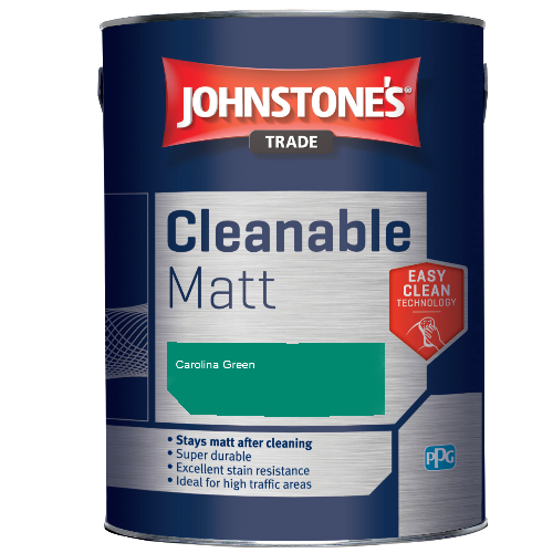 Johnstone's Trade Cleanable Matt - Carolina Green - 5ltr