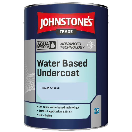 Johnstone's Aqua Water Based Undercoat - Touch Of Blue - 5ltr