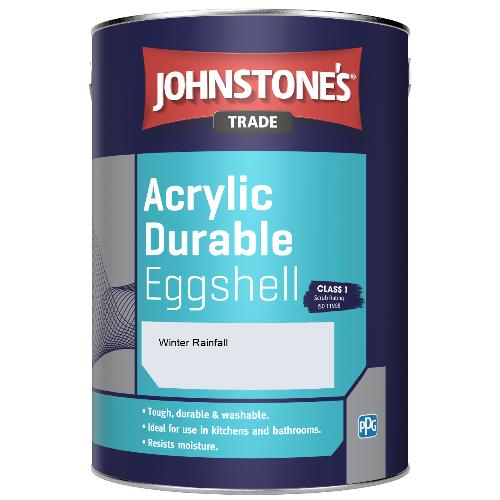 Johnstone's Trade Acrylic Durable Eggshell - Winter Rainfall - 2.5ltr