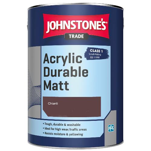 Johnstone's Trade Acrylic Durable Matt - Chianti - 2.5ltr