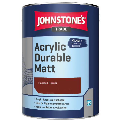 Johnstone's Trade Acrylic Durable Matt - Roasted Pepper - 2.5ltr