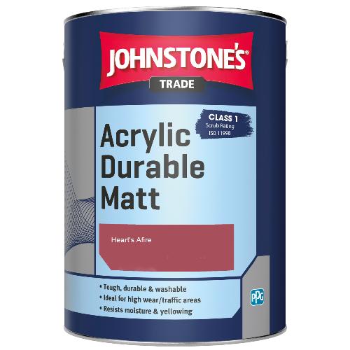 Johnstone's Trade Acrylic Durable Matt - Heart's Afire - 2.5ltr