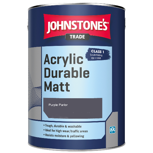 Johnstone's Trade Acrylic Durable Matt - Purple Parlor - 2.5ltr