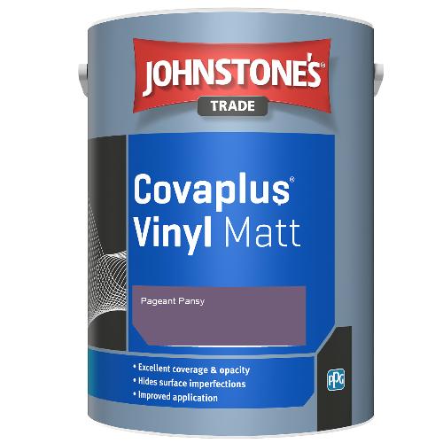 Johnstone's Trade Covaplus Vinyl Matt - Pageant Pansy - 1ltr