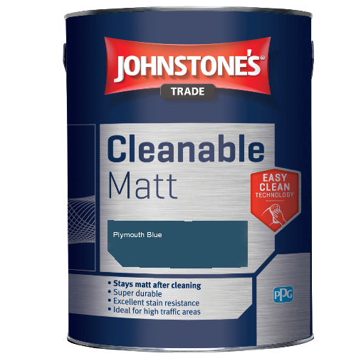 Johnstone's Trade Cleanable Matt - Plymouth Blue - 2.5ltr