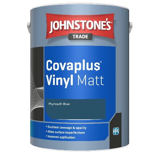 Johnstone's Trade Covaplus Vinyl Matt - Plymouth Blue - 1ltr