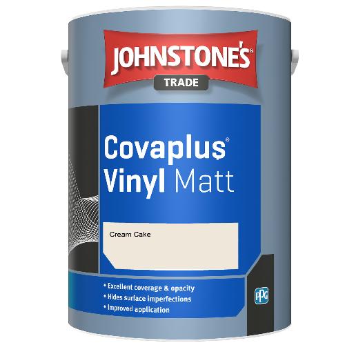 Johnstone's Trade Covaplus Vinyl Matt - Cream Cake - 1ltr