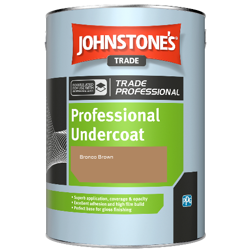 Johnstone's Professional Undercoat - Bronco Brown - 1ltr