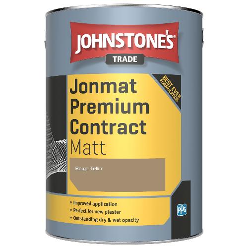 Johnstone's Trade Jonmat Premium Contract Matt - Beige Tellin - 5ltr