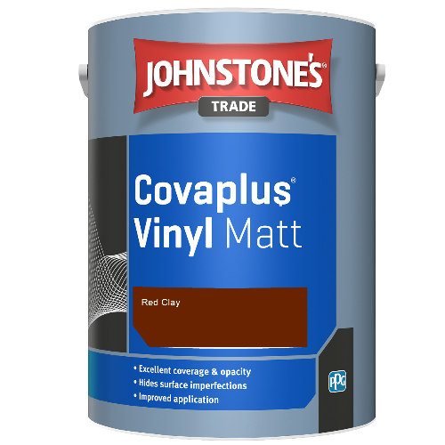 Johnstone's Trade Covaplus Vinyl Matt - Red Clay - 5ltr
