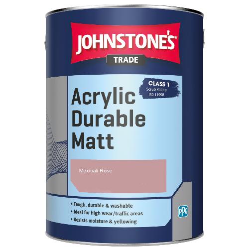 Johnstone's Trade Acrylic Durable Matt - Mexicali Rose - 2.5ltr