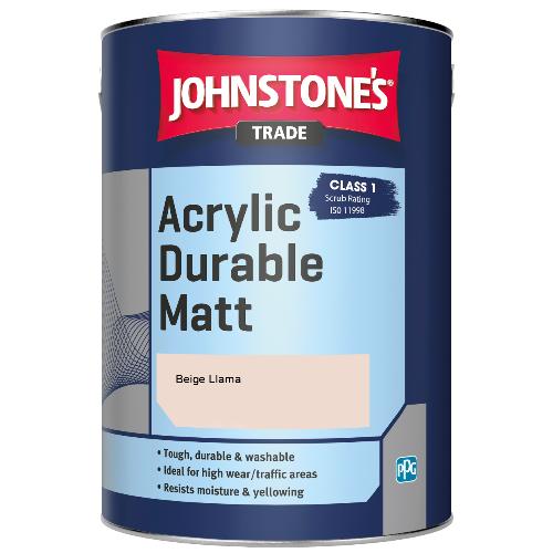 Johnstone's Trade Acrylic Durable Matt - Beige Llama - 2.5ltr
