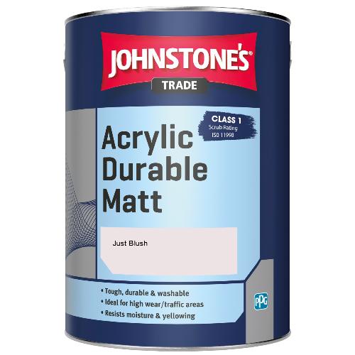 Johnstone's Trade Acrylic Durable Matt - Just Blush - 5ltr