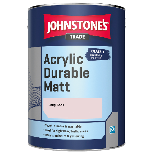 Johnstone's Trade Acrylic Durable Matt - Long Soak - 2.5ltr