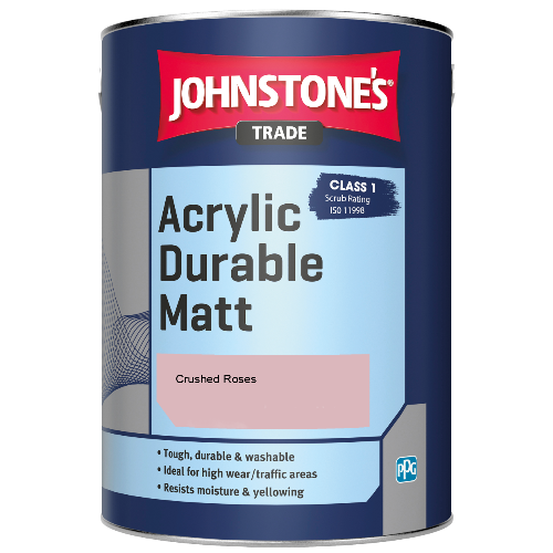 Johnstone's Trade Acrylic Durable Matt - Crushed Roses - 2.5ltr