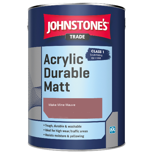 Johnstone's Trade Acrylic Durable Matt - Make Mine Mauve - 2.5ltr