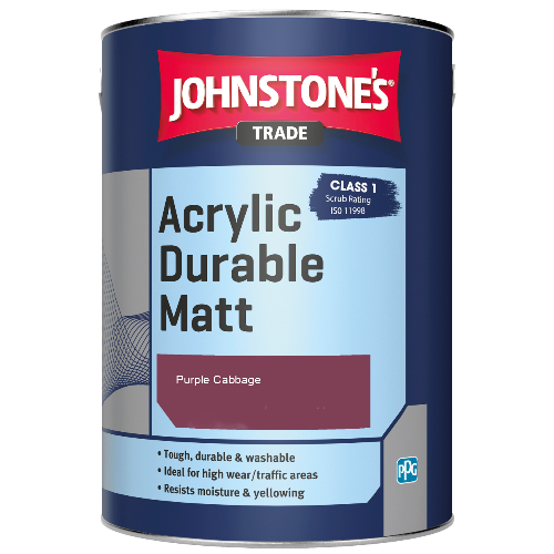 Johnstone's Trade Acrylic Durable Matt - Purple Cabbage - 2.5ltr