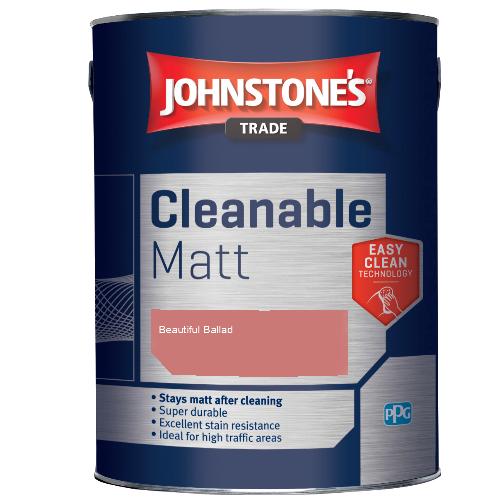 Johnstone's Trade Cleanable Matt - Beautiful Ballad - 2.5ltr