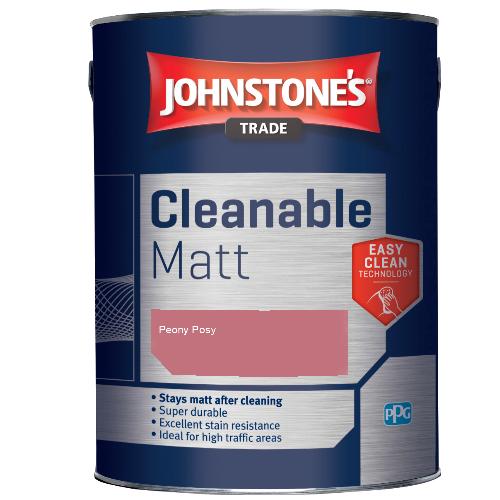 Johnstone's Trade Cleanable Matt - Peony Posy - 2.5ltr