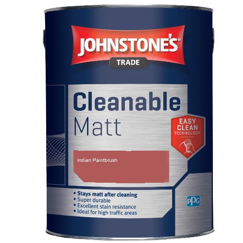 Johnstone's Trade Cleanable Matt - Indian Paintbrush - 2.5ltr